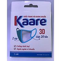 Khẩu trang vải  Kaare 3D, 2 lớp, kháng khuẩn, có van thở  sử dụng 20 lần - hộp 1 cái