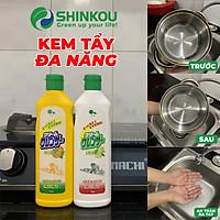 Chai Tẩy Rửa Xoong Nồi Đa Năng Hương Chanh Làm Sạch Kim Loại Và Gạch Men, Đồ Bếp, Dầu Mỡ ( 400ml/chai )