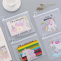 Hộp bút trong suốt nhìn xuyên hình độc giác unicorn – Giao màu ngẫu nhiên