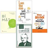 Bookset Sách: 4 cuốn: Khéo Ăn Nói + Bậc Thầy Giao Tiếp + Làm Thế Nào Để Kết Giao Với Người Lạ + Bí Mật Sau Những Hành Vi Nhỏ