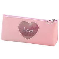 Bóp Viết Phong Cách Hàn Quốc Pink Heart