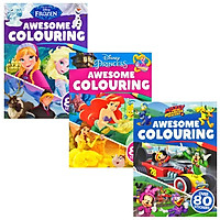 Combo Awesome Colouring (Over 80 Stickers)