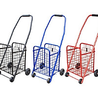 Xe kéo đi chợ đa năng cỡ trung cao 80cm màu ngẫu nhiên