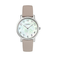 Đồng hồ Dây Da Nữ Timex Fairfield 34mm Leather Strap Watch - TW2T35900