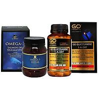 Combo Thực phẩm chức năng Viên dầu cá Hồi Omega3 và Viên giảm đau nhức xương khớp Viên Xương Khớp...