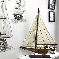 Mô hình du thuyền đua gỗ Shamrock V (thân 50cm - gỗ tự nhiên)