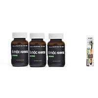 [COMBO 3 HỘPThực phẩm bảo vệ sức khỏe Ô Mộc Khang-50v hỗ trợ bổ gan thận, bổ huyết, giảm tóc bạc sớm