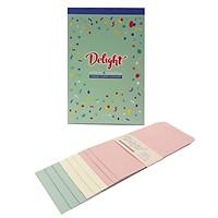 Giấy Viết Thư Kèm Bao Thư Delight - Morning Glory 79248 - Mẫu 4 - Bìa Xanh Mint - Gáy Xanh Dương