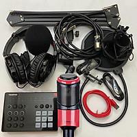 Combo trọn bộ sound card Takstar SC-M1 và Micro Takstar PC-K320 thu âm live stream, karaoke cực hay, kẹp bàn màng lọc, tai nghe kiểm âm - Hàng chính hãng