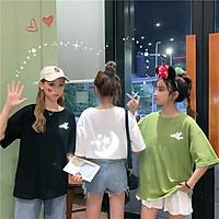 áo thun tay lỡ nam nữ Stee Phản quang MOON STAR 2020 3 size M L XL chất liệu vải cotton Ngầu Unisex aothununisex