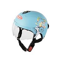 Mũ Bảo Hiểm Andes Trẻ Em Có Kính - 3S108SK Tem Nhám S95