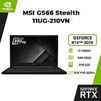 Laptop MSI GS66 Stealth 11UG-210VN (Core i7-11800H/ 32GB (16GBx2) DDR4 3200MHz/ 2TB SSD PCIE G3X4/ RTX3070 Max-Q 8GB GDDR6/ 15.6 FHD IPS, 300Hz/ Win10) - Hàng Chính Hãng