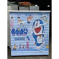 Tủ nhựa đài loan 2 cánh 5 ngăn in 3D hình  Doraemon dành cho bé