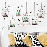 Decal dán tường Dây hoa sắc màu trang trí phòng khách,phòng ngủ đẹp