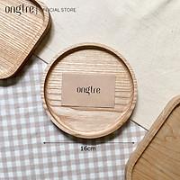 Khay gỗ ONGTRE tự nhiên hình tròn, chữ nhật, vuông, Nhiều kích thước, Gỗ Tần Bì nguyên khối, (Hàng VN)