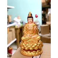 Tượng Đại Thế Chí Bồ Tát 30cm composite nhủ vàng