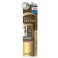 Bút Vẽ Lông Mày 3 Đầu K-Palette Eyebrow Pencil Chống Nước Lâu Trôi 24h (02 Màu nâu tự nhiên)