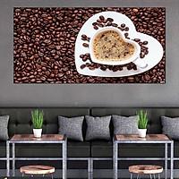 Tranh dán tường quán cà phê hiện đại GDT-50