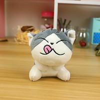 Móc khóa gấu bông mèo Chii (11 cm) - Mẫu 3, Màu Xám
