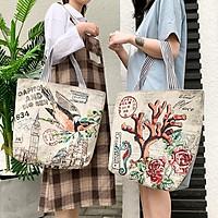 Túi tote vải thổ cẩm dành cho mọi lứa tuổi , đi làm , đi học MN57