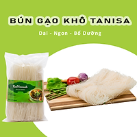 Combo 2 Gói Bún Gạo Tanisa - Sợi bún dai ngon bổ dưỡng, không chất bảo quản, an toàn cho sức khỏe - Đạt Tiêu Chuẩn Chất Lượng FDA Hoa Kỳ
