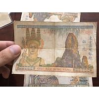 Giấy 5 đồng vàng đông dương, tiền cổ Pháp thuộc 3 nước Việt Nam, Lào, Campuchia dùng chung