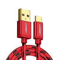Cáp sạc USB TypeC cao cấp 1.5M màu đỏ  Ugreen 250OL40485US Hàng chính hãng
