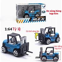 Đồ chơi mô hình xe nâng hàng mini KAVY NO.8810 kim loại tỷ lệ 1:64 an toàn cho bé có thể trang trí - màu xanh