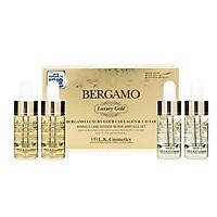 Set 4 chai Siêu tinh chất dưỡng trắng và tái tạo da Bergamo Luxury Gold Caviar Intense Repair Ampoule 13ml x4