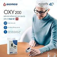 Máy Đo Nồng Độ Oxy Và Nhịp Tim Microlife Spo2 Oxy200