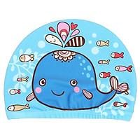 Nón bơi cho bé gái họa tiết hình thú sinh động tươi tắn – NB003