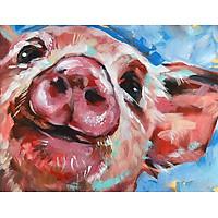 Bimkole 5D Diamond Painting Pig Full Drill DIY Rhinestone Pasted with Diamond Set Arts Craft Decorations (12x16inch)