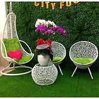 Bộ bàn ghế sân vườn + xích đu NAVICOM