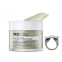 Mặt Nạ Đất Sét Thu Nhỏ Lỗ Chân Lông Chiết Xuất Cây Hương Thảo Re:p Bio Fresh Mask With Real Nutrition Herbs 130g + Tặng Kèm 1 Băng Đô Tai Mèo  (Màu Ngẫu Nhiên)