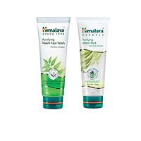 Bộ đôi sản phẩm dành cho da mụn giúp kiềm dầu, làm sạch sâu, ngừa mụn ( Purifying Neem Face Wash 100ml, Neem Face Pack 100 ml)