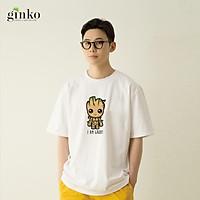 Áo thun nam nữ unisex Ginko T-Shirt cotton cổ tròn phong cách trẻ trung in hình I AM GROOT