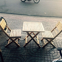 Bộ Bàn ghế cafe, trà mini cao su 2 ghế và 1 bàn