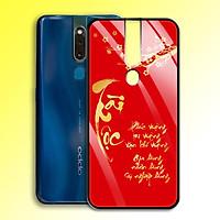 Ốp Lưng Họa Tiết Màu Vàng Ánh Kim cho điện thoại Oppo F11 Pro - 0359 7995 TAILOC04 - Tài Lộc - Hàng Chính Hãng