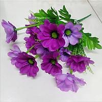Hoa giả Chùm hoa lụa 14 Bông Hoa Anh Đào Tím trang trí