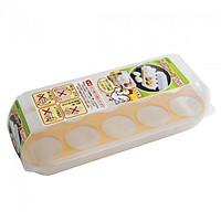 Khay Đựng Trứng 10 Ngăn Có Nắp Đậy KOMONOYA Hàng Nội Địa Nhật Bản