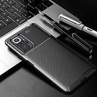 Ốp lưng cho Xiaomi Redmi Note 10 Pro chống sốc Carbon Auto Focus - Hàng nhập khẩu