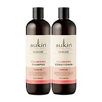 Combo gội xả làm dày tóc Sukin Volumising Shampoo 500ml & Sukin Volumising Conditioner 500ml