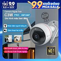 Camera EZVIZ C3W PRO 2MP & 4MP, WI-FI Không Dây, IP67 Ngoài Trời, Ghi Hình Màu Ban Đêm, Âm Thanh 2 Chiều, Đèn và Còi Báo Động, Tích Hợp AI--Hàng Chính Hãng