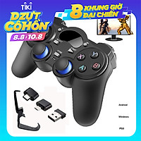 Tay cầm chơi game không dây cho Ps3 Android và máy tính 2.4G Gamepad Joystick Wireless Controller
