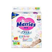 Tã/bỉm dán Merries size S - 82 + 6 miếng (Cho bé 4-8kg)