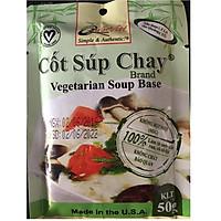 GIA VỊ NẤU Súp Chay Cốt Quốc Việt Foods 50g-Gia vị hoàn chỉnh nhập khẩu