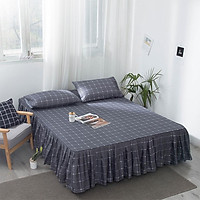 Bed Skirt Style Aloe Vera Cotton Bedspread for Double Mattress