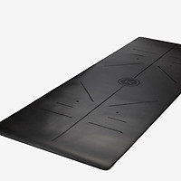 Keep body line yoga mat female natural rubber non-slip stable fitness mat male 183*66cm increase widened 5mm thick