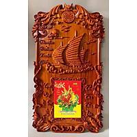 Dốc lịch gỗ hương đục nổi-Thuận Buồm Xuôi Gió -TG171.