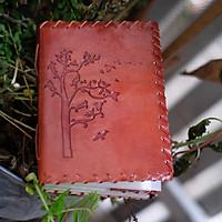 Sổ tay handmade bìa da thật hình Tree of life - Sketchbook- Handmade leather journal